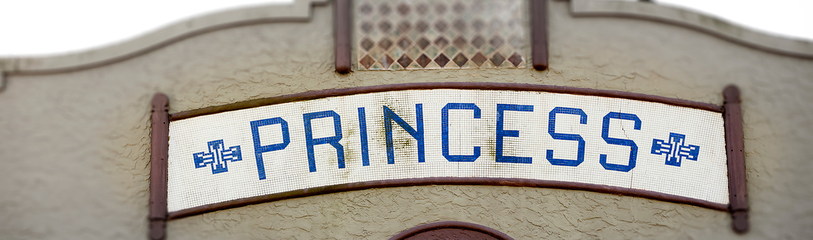 mosaic sign for Princess building